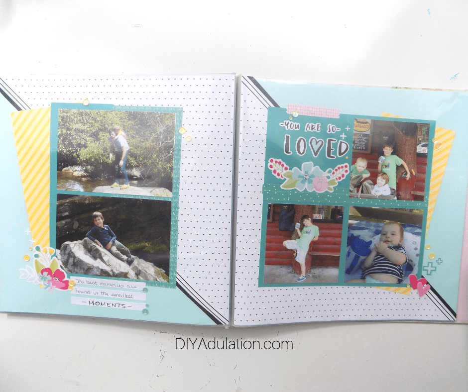 2 Page You Are So Loved Scrapbook Layout