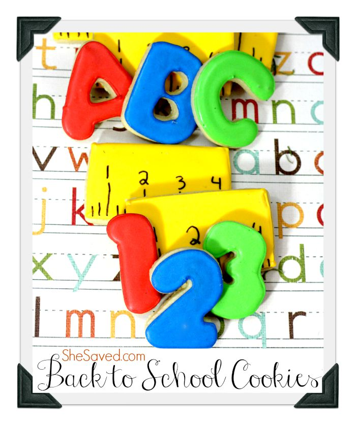 letters and numbers sugar cookies