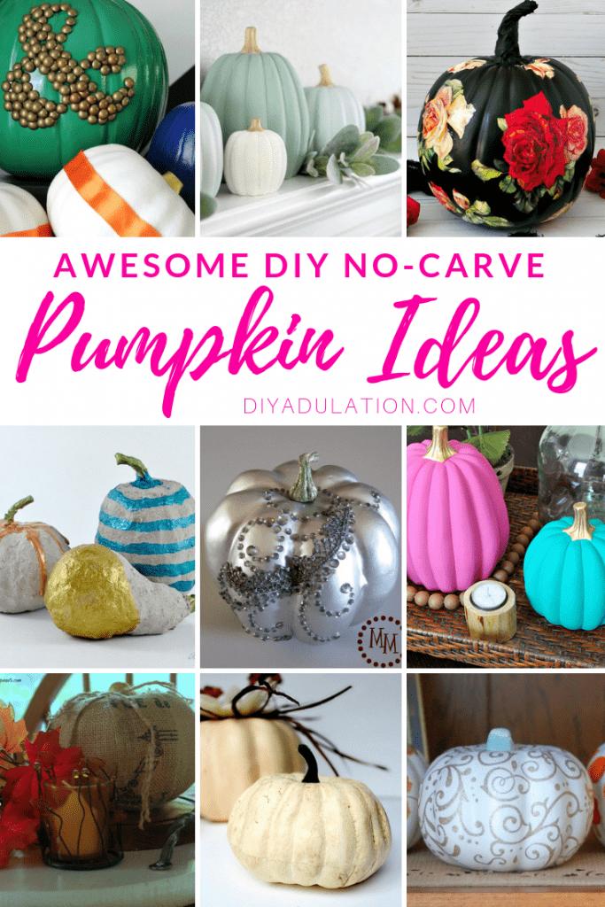 Awesome DIY No-Carve Pumpkin Ideas