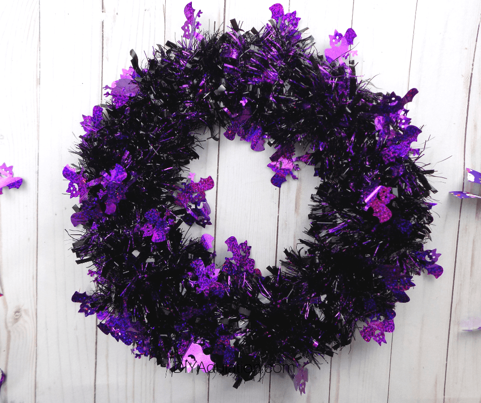 Bat Garland Wrapped Wreath