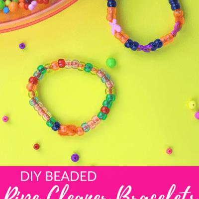 DIY Beaded Pipe Cleaner Bracelets