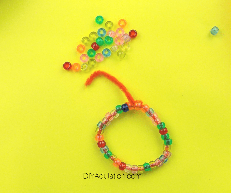 Beaded Pipe Cleaner Looped into Bracelet