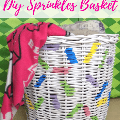 Organize Your Throw Blankets with a DIY Sprinkles Basket