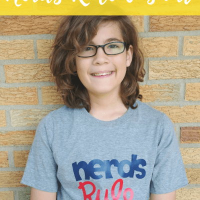 DIY Nerds Rule T-shirt Cricut Craft