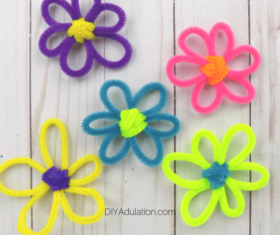 Bright Pipe Cleaner Flowers