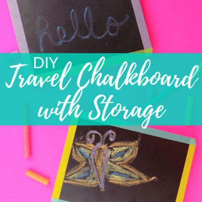 DIY Travel Chalkboards with Storage for Kids