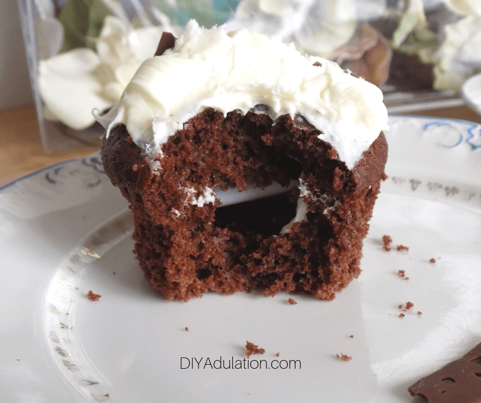 Chocolate Cupcake with Secret Message Cavity Inside