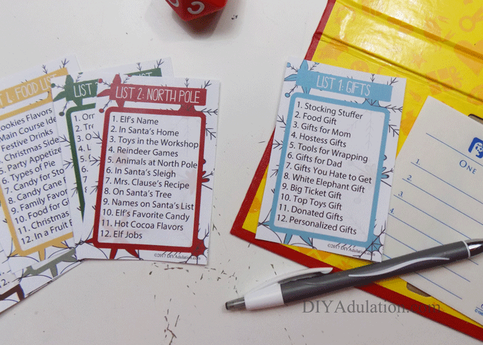 photo about Scattergories Answer Sheets Printable named Free of charge Printable Xmas Scattergories Sport - Do-it-yourself Adulation