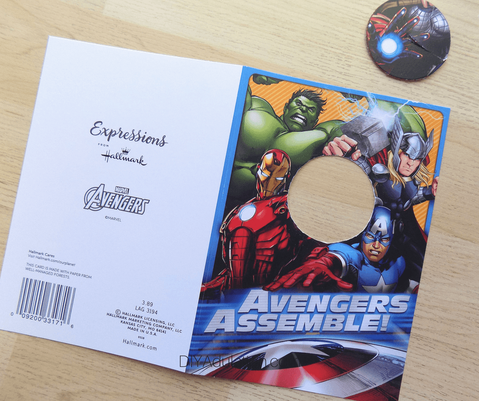 Circle Cut Out of Avengers Card