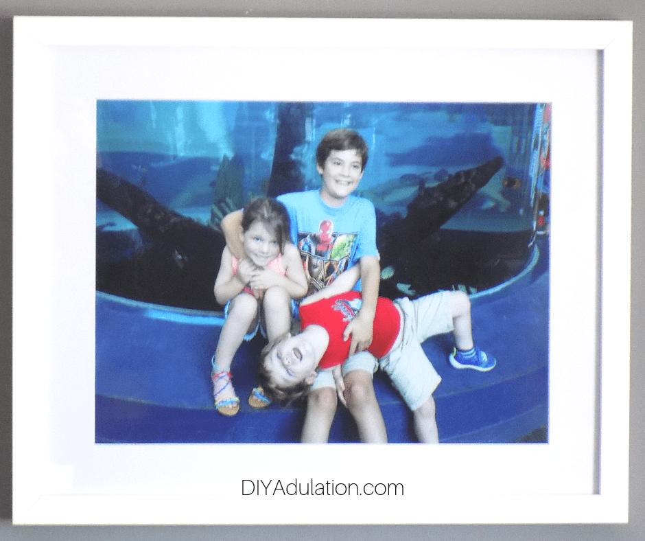 Close Up of Framed Kids Photo
