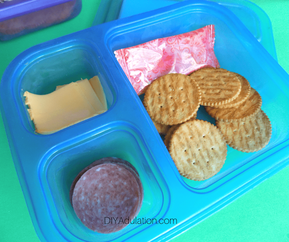Close Up of Homemade Lunchable