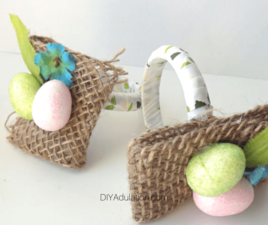 Close up of 2 Easter Napkin Rings