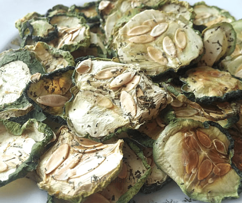 Close up of Cucumber Chips