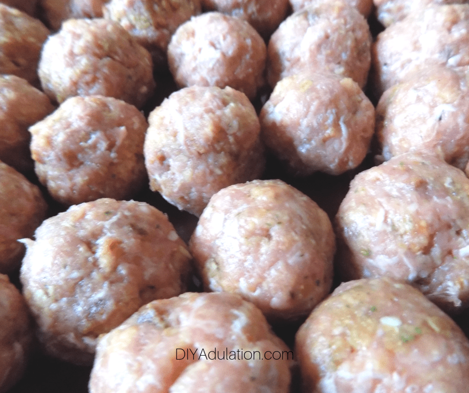 Close up of Meatballs