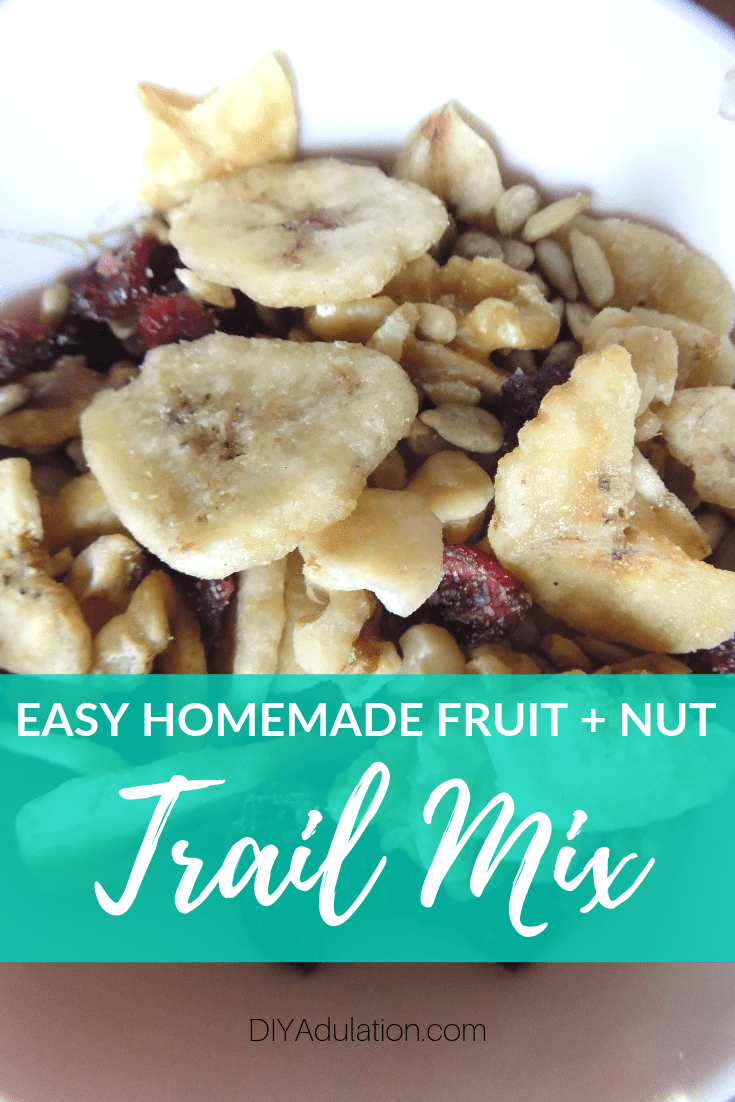 Healthy snacks that kids will actually eat but don't take a lot of effort on your part are here with this easy homemade fruit and nut trail mix recipe!