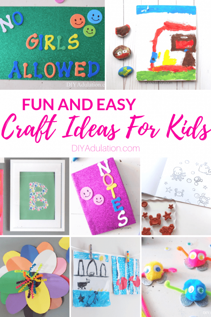 Low and No Prep Easy Craft Ideas for Kids