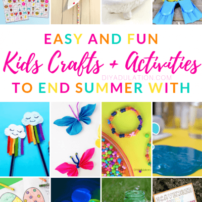 Easy Kids Crafts and Activities to End Summer With