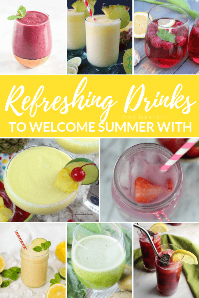 Refreshing Drinks to Welcome Summer With