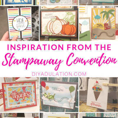 Collage of Handmade Cards with text overlay - Inspiration from the Stampaway Convention 2019