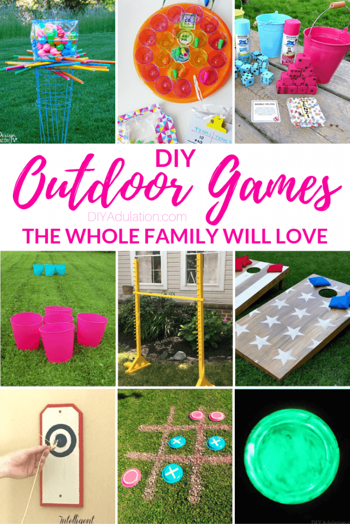 DIY Outdoor Games the Whole Family Will Love
