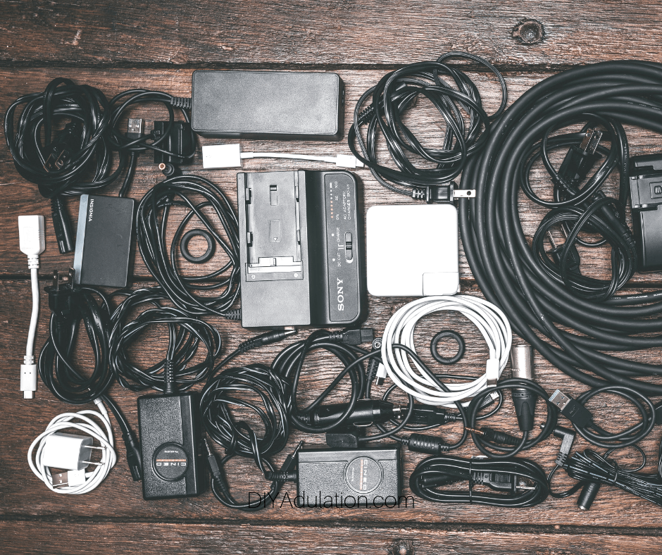 Collection of Cords and Chargers