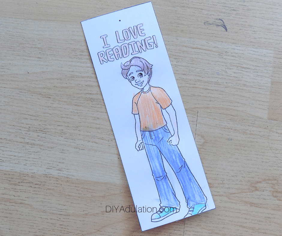 Colored Charlie Tractor Bookmark