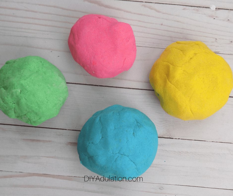 Colorful Balls of Play Dough