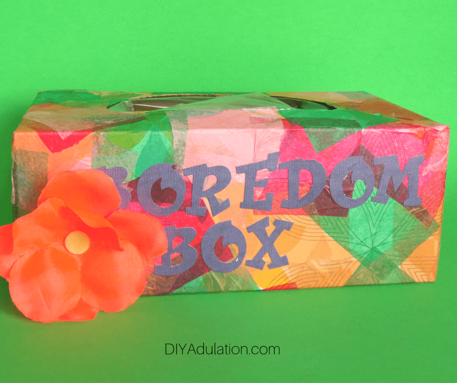Colorful Boredom Box with Flower