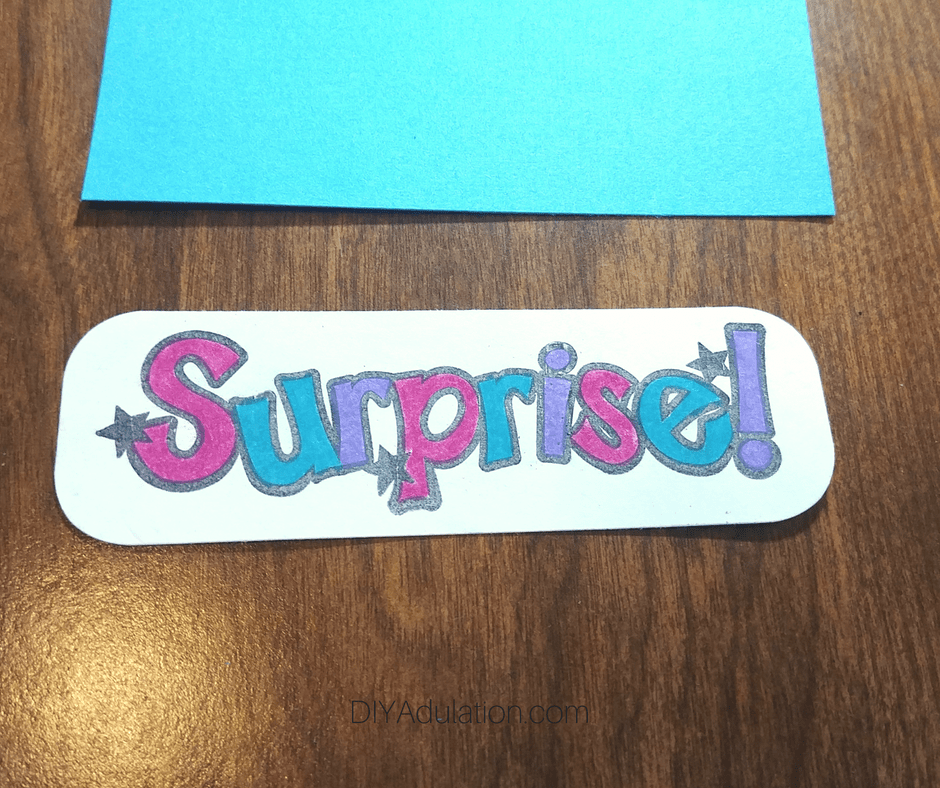 Colorful Letters of the word Surprise
