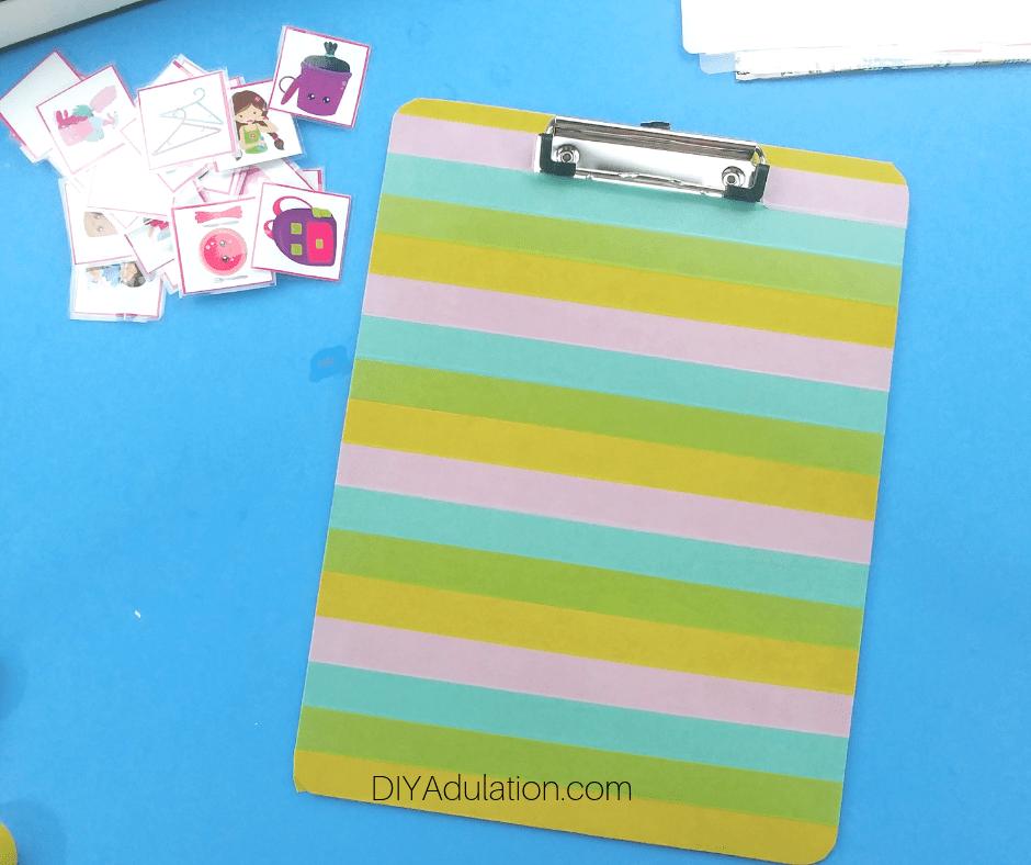 Colorful Striped Clipboard