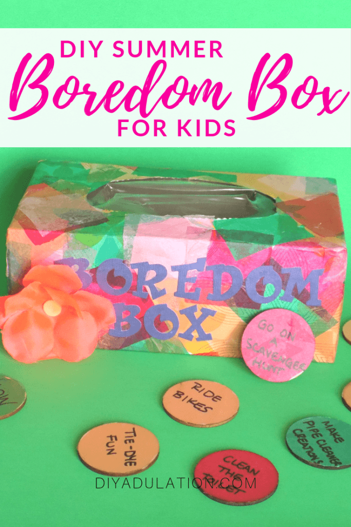 DIY Summer Boredom Box for Kids | Easy Recycled Craft