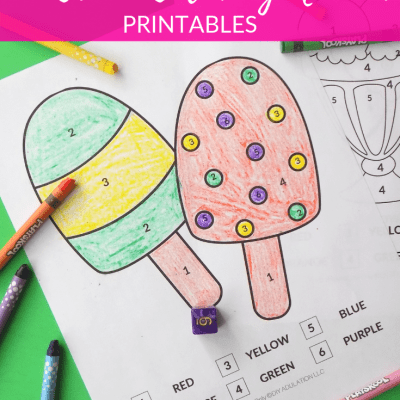 Roll of the Dice Ice Cream Color by Number Printables