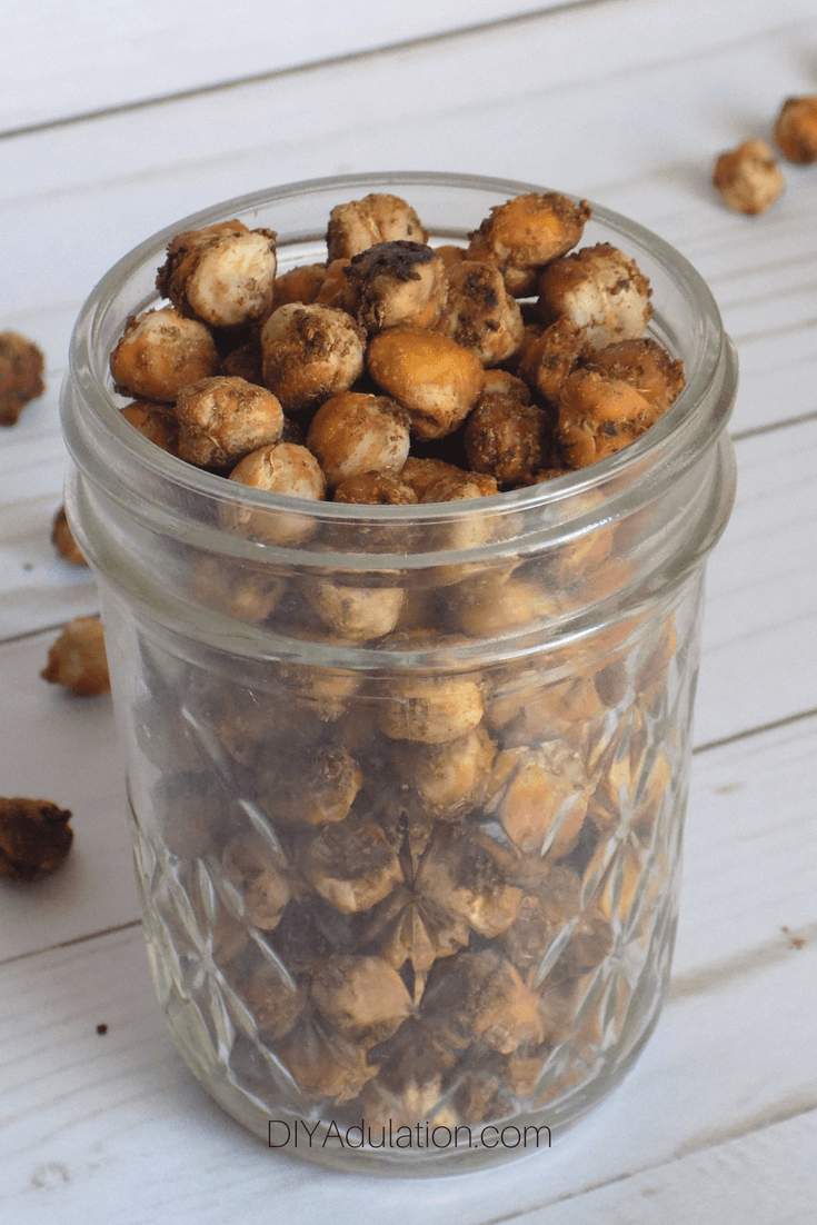 Cajun Chickpeas in Glass Jar