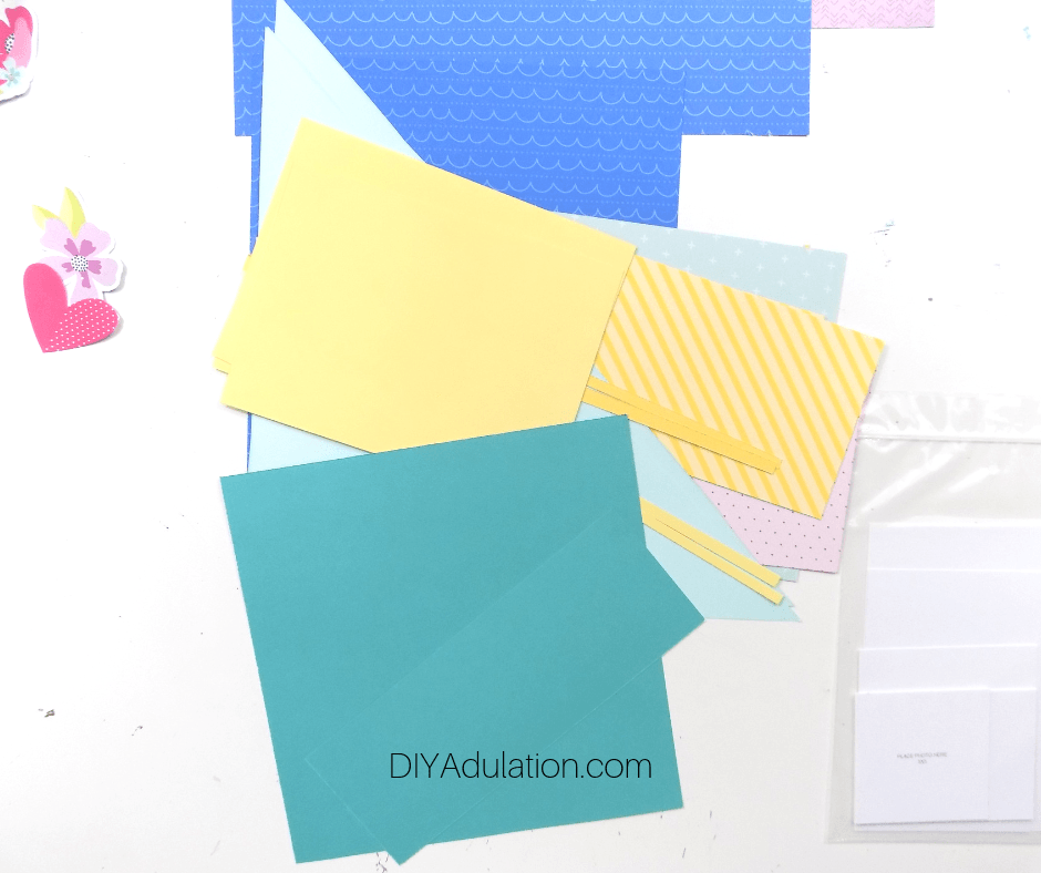 Cut Out Paper Elements for Pages