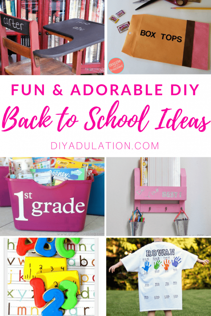 Fun and Adorable DIY Back to School Ideas