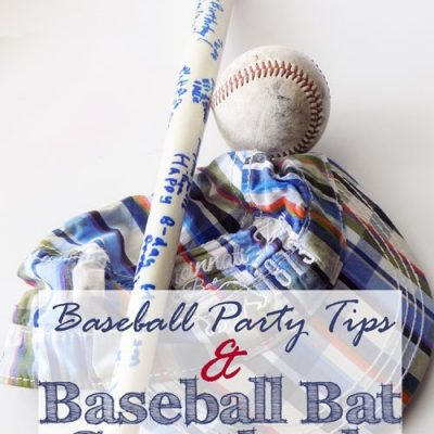 Baseball Party with DIY Baseball Bat Guest Book