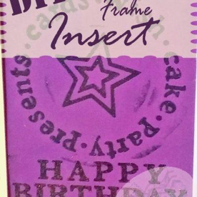 Birthday Card Frame Insert