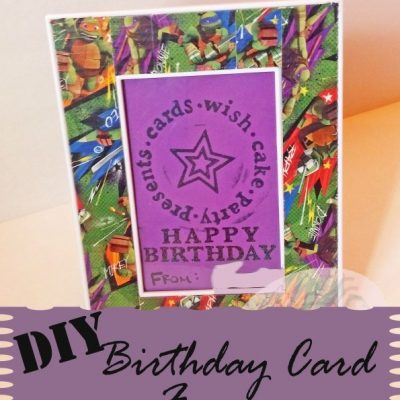 DIY Birthday Card Frame