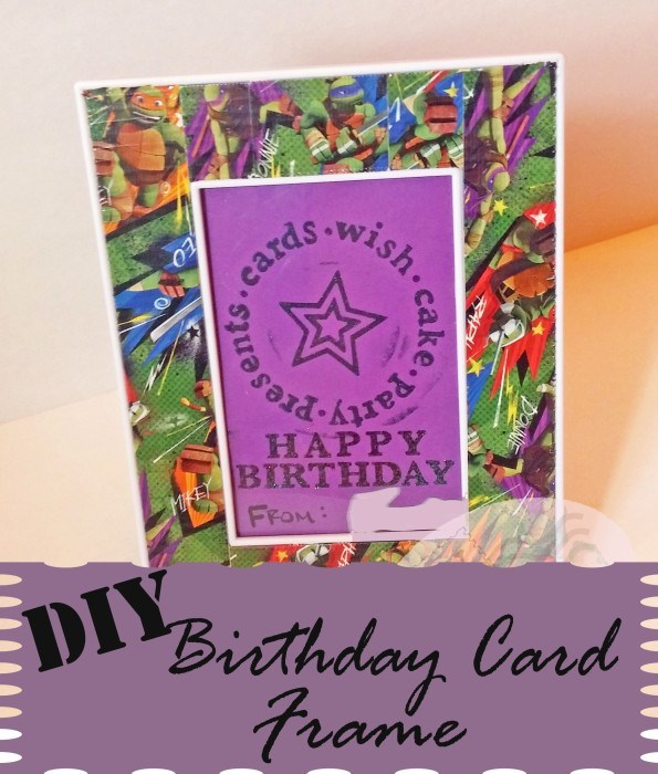 DIY Birthday Card Frame