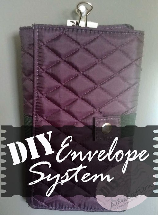 Hanging Quilted Organizer with text overlay - DIY Envelope System