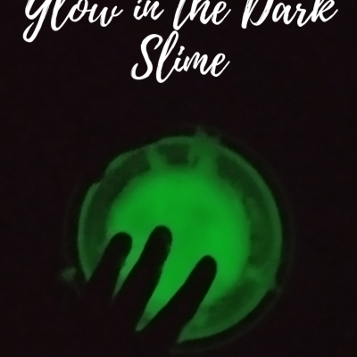 DIY Green Glow in the Dark Slime Recipe