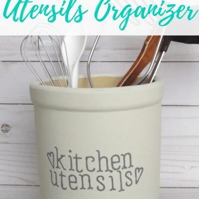 DIY Kitchen Utensils Organizer for Gorgeous Counter Organization