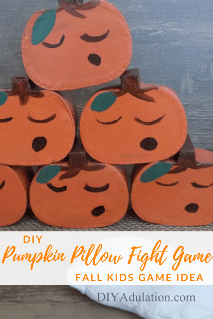 DIY Pumpkin Pillow Fight Game | Fall Kids Game Idea