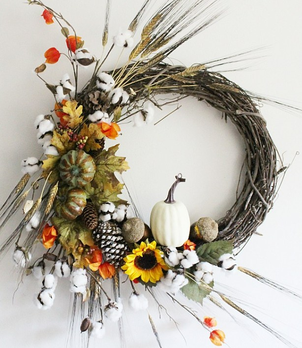 Rustic Fall Grapevine Wreath