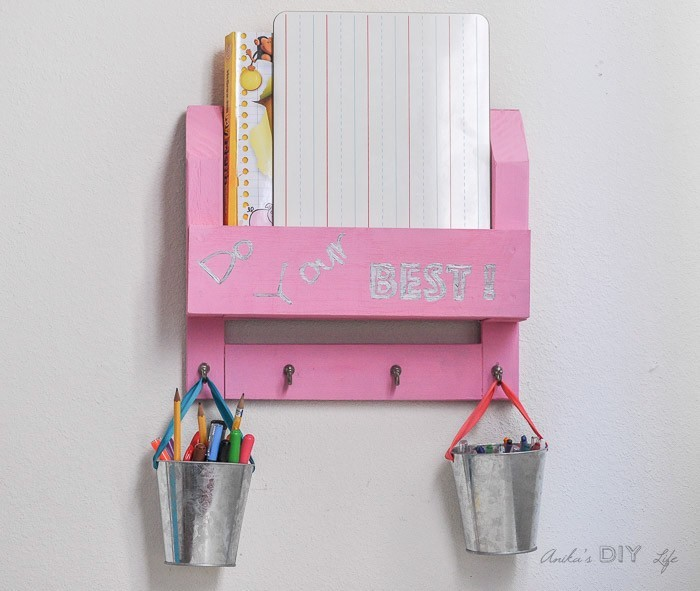 Pink Organizer hanging on a wall