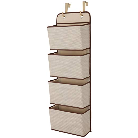 Tan over-the-door organizer