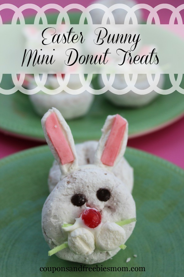 bunny mini donuts on plate