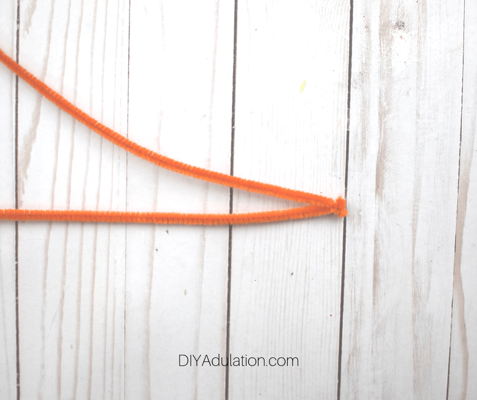 Ends of 2 Orange Pipe Cleaners Twisted Together