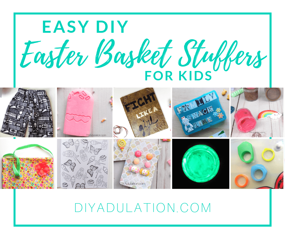 Collage Craft Projects with text overlay - Easy DIY Easter Basket Stuffers