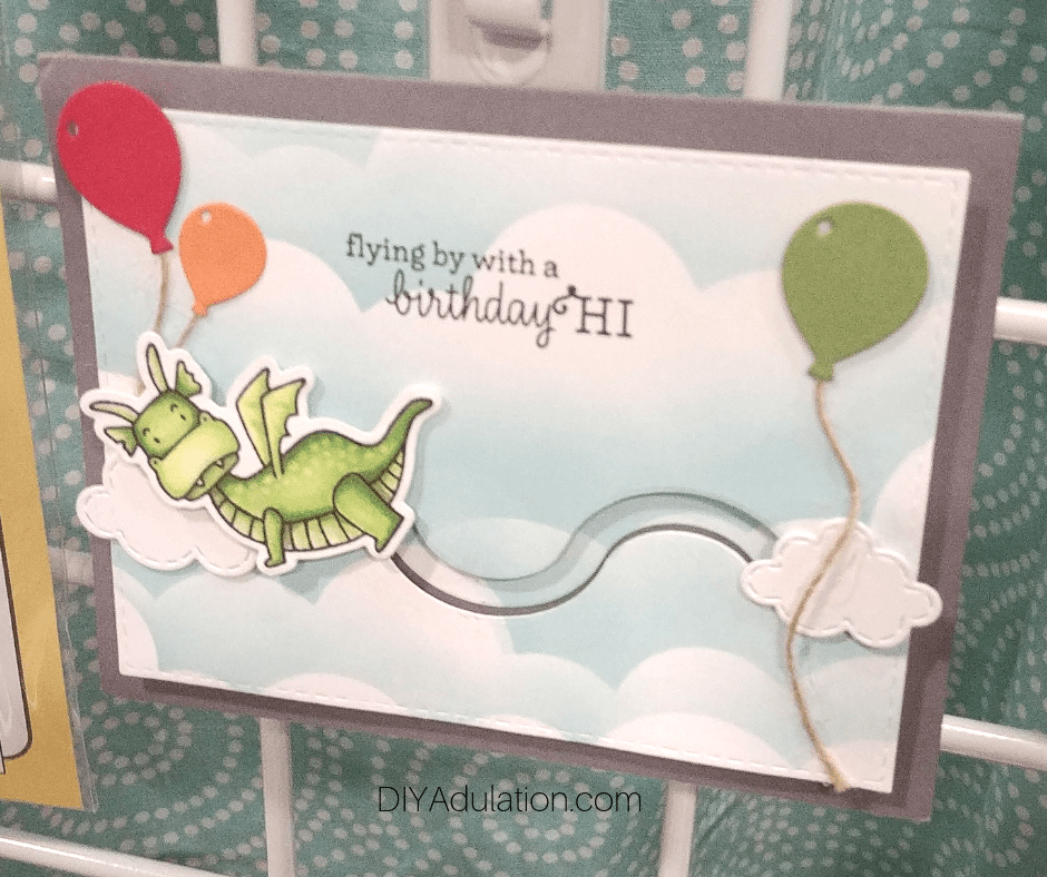 Flying Dragon Birthday Card